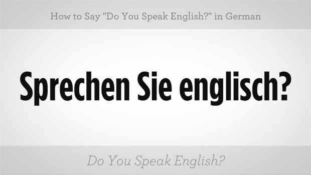 "ZC. How to Say ""Do You Speak English?"" in German Promo Image"