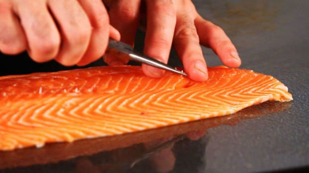 H. How to Remove Pin Bones from a Salmon Fillet Promo Image