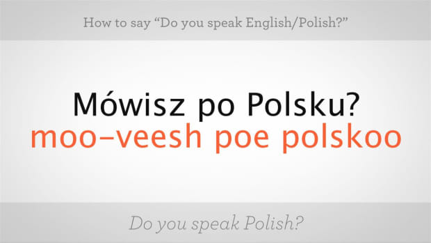 "ZA. How to Say ""Do You Speak English"" in Polish Promo Image"