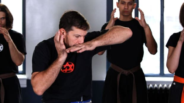 K. How to Do a Krav Maga Elbow to the Side Promo Image