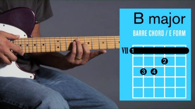 ZZZB. How to Play Barre Chords in B Major on Guitar Promo Image