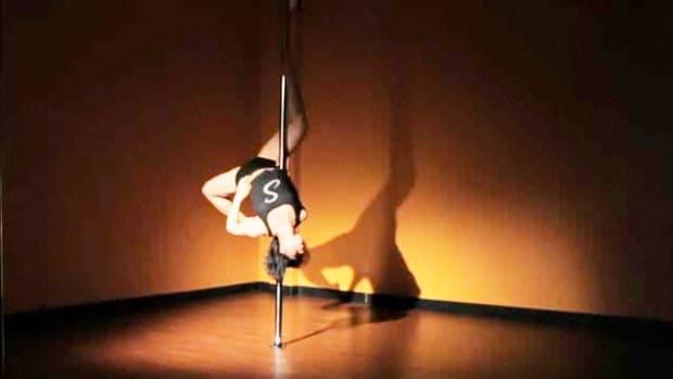 M. How to Do a Descending Angel Inversion in Pole Dancing Promo Image