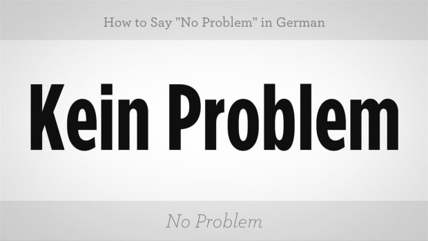 "ZU. How to Say ""No Problem"" in German Promo Image"