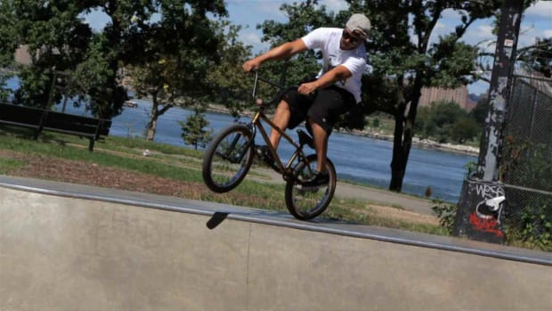 V. How to Do a Tail Tap on a BMX Bike Ramp Promo Image