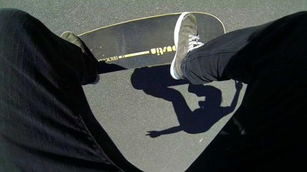V. How to Do a Fakie Ollie on a Skateboard Promo Image