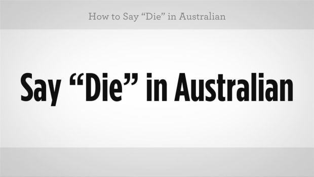 "L. How to Say ""Die"" in Australian Slang Promo Image"