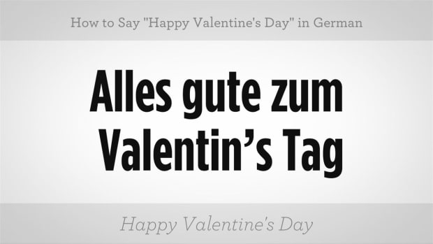"ZZO. How to Say ""Happy Valentine's Day"" in German Promo Image"