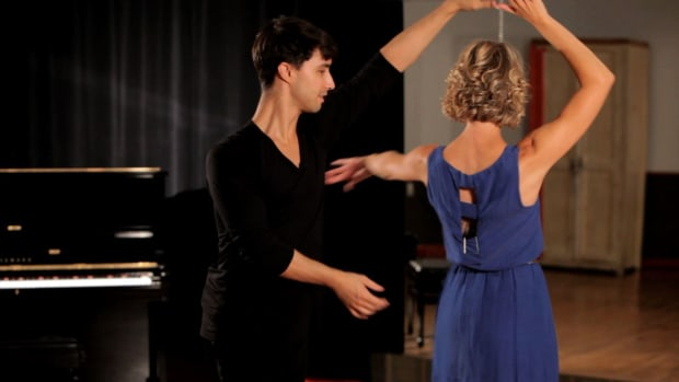 ZA. How to Do a Rumba Ladies Underarm Turn Promo Image