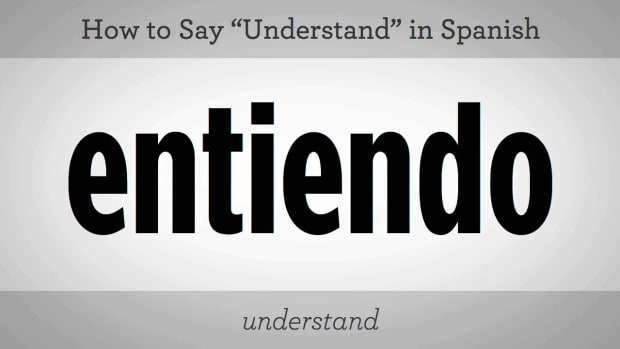 "U. How to Say ""Understand"" in Spanish Promo Image"