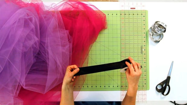 M. How to Prep the Ribbon for No-Sew Tulle & Ribbon Tutu Promo Image