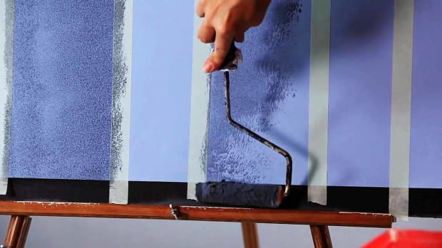 K. How to Paint Vertical Plaid Stripes on a Wall Promo Image