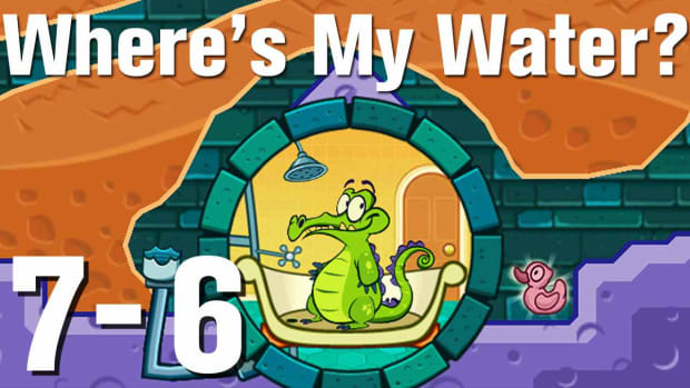 ZZZZV. Where's My Water Walkthrough Level 7-6 Promo Image