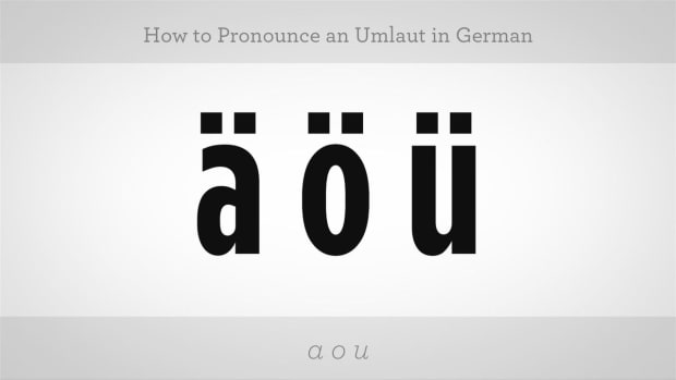 B. How to Pronounce an Umlaut Promo Image