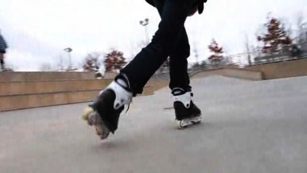 I. How to Do a Step-Over or Crossover Turn on In-Line Skates Promo Image