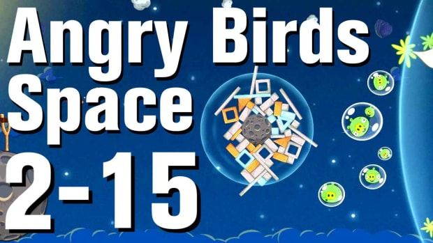 ZS. Angry Birds: Space Walkthrough Level 2-15 Promo Image