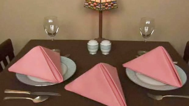 C. How to Fold Napkins into Pyramid Shapes Promo Image