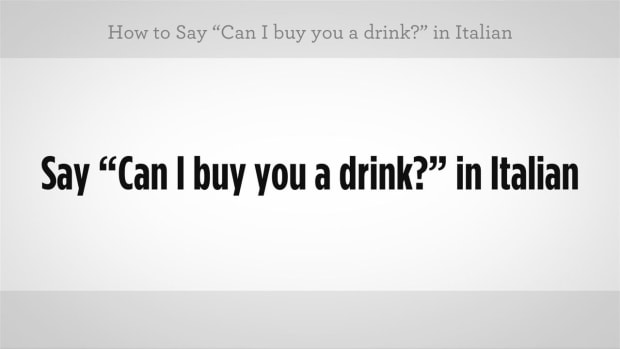 "ZZZE. How to Say ""Can I Buy You a Drink"" in Italian Promo Image"