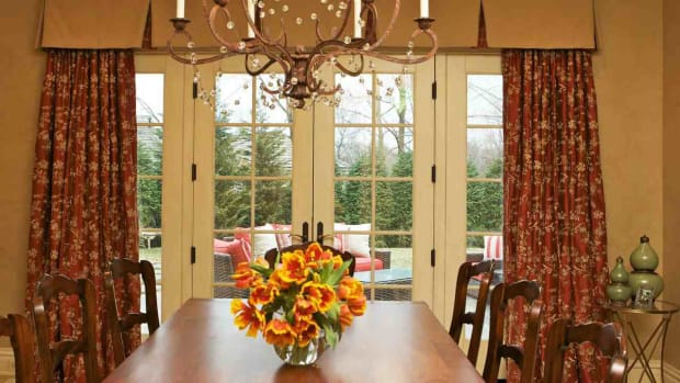ZU. Window Treatments for French Doors Promo Image