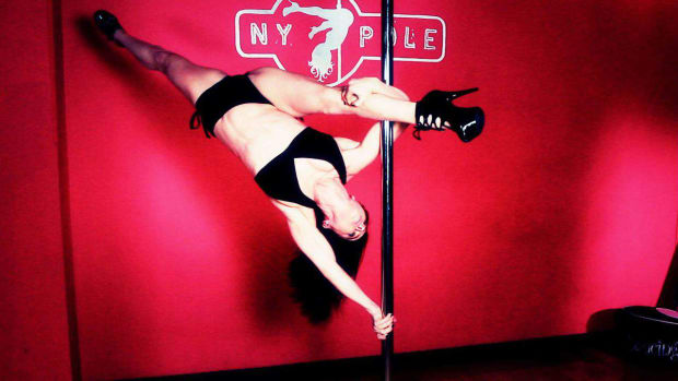 P. How to Do a Pole Dance Elbow Handstand Promo Image