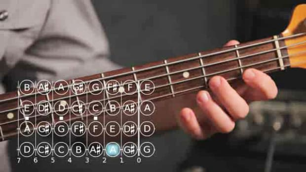 ZZJ. How to Play an F Minor Scale on Bass Guitar Promo Image
