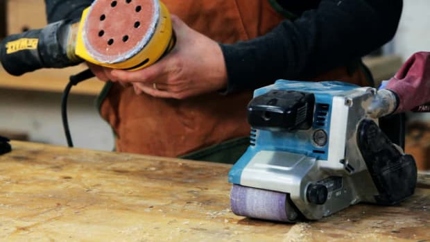 P. How to Use a Sander for Woodworking Promo Image