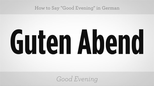 "L. How to Say ""Good Evening"" in German Promo Image"