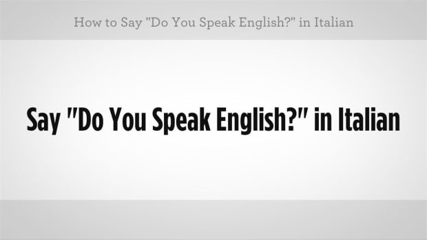 "ZG. How to Say ""Do You Speak English"" in Italian Promo Image"