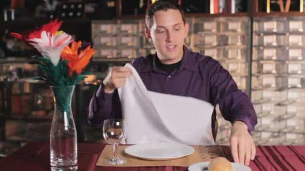 ZE. How to Do the Coin through a Napkin Trick Promo Image