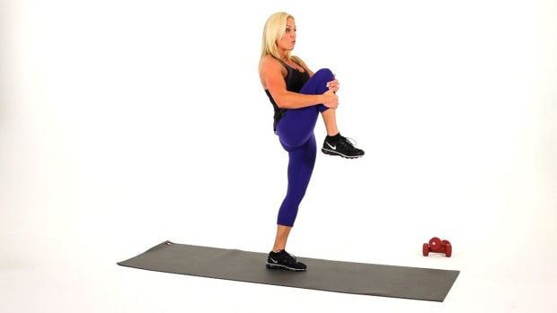 K. How to Do a High Knee Lift for a Sexy Legs Workout Promo Image