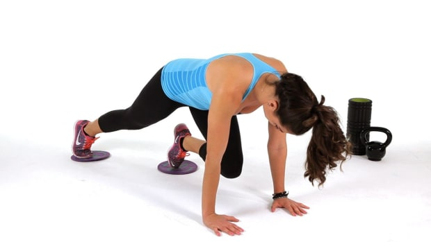 ZL. How to Do a Mountain Climber Exercise with Gliders Promo Image