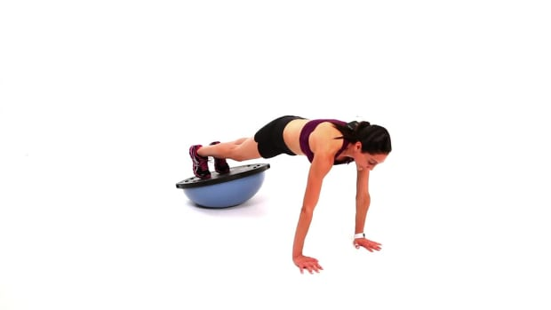 ZP. How to Do Advanced Upper Body Exercises with a Bosu Ball Promo Image