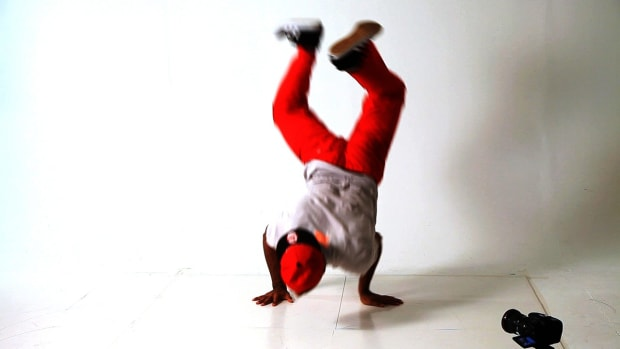 ZE. How to Do a Turtle Freeze to a Handstand in Break Dancing Promo Image