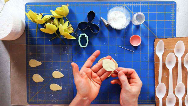 ZM. How to Make Orchid Sugar Paste Flower Petals Promo Image