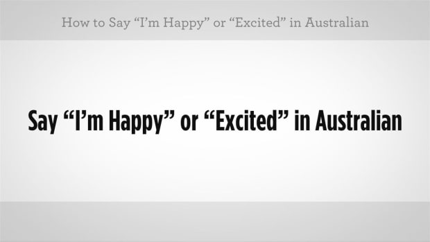"ZD. How to Say ""I'm Happy"" or ""I'm Excited"" in Australian Slang Promo Image"