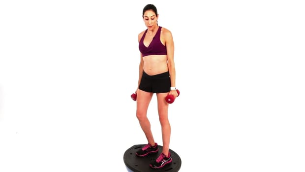 ZK. How to Do an Arm Curl with a Bosu Ball Promo Image