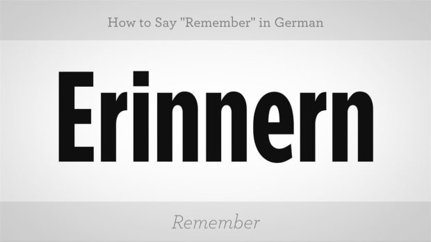 "ZW. How to Say ""Remember"" in German Promo Image"