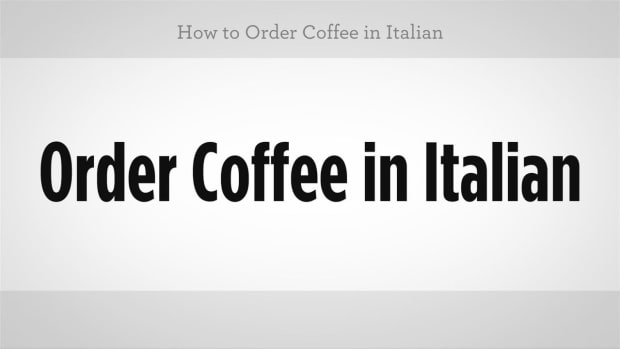 ZZS. How to Order Coffee in Italian Promo Image