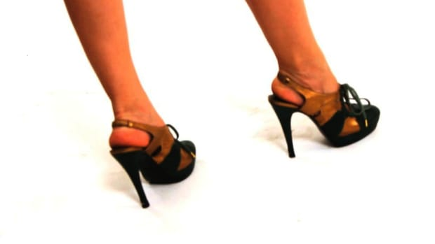 R. How to Walk in High-Heeled Slingbacks Promo Image