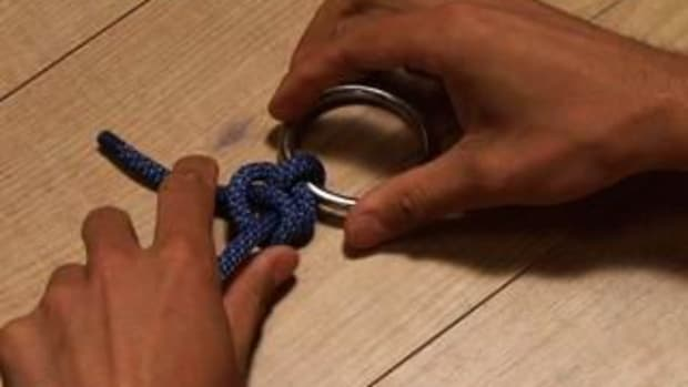 D. How to Tie a Two Half Hitch Knot Promo Image