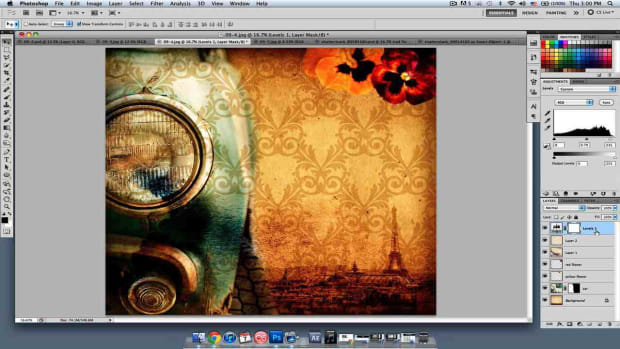 M. How to Blend Collage Photoshop Images Promo Image