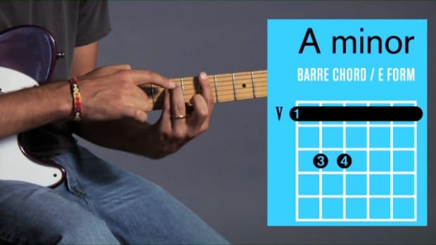 ZZZN. How to Play an A Minor Barre Chord on Guitar Promo Image