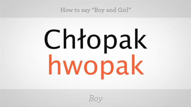 "ZH. How to Say ""Boy"" & ""Girl"" in Polish Promo Image"