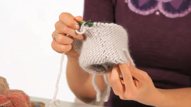 M. How to Do a Reverse Stockinette Stitch in the Round Promo Image