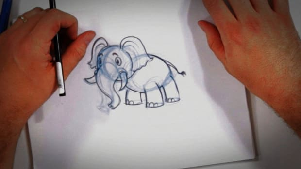 O. How to Draw a Cartoon Elephant Promo Image