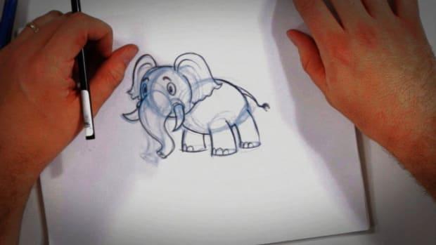 O. How to Draw a Cartoon Elephant Promo Image