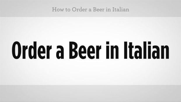 ZZQ. How to Order a Beer in Italian Promo Image