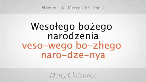 """ZM. How to Say """"Merry Christmas"""" in Polish Promo Image"""