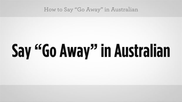 "ZA. How to Say ""Go Away"" in Australian Slang Promo Image"