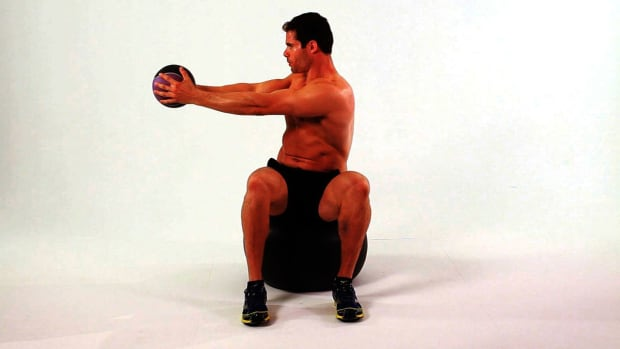 ZD. How to Do a Seated Twist on Exercise Ball Promo Image