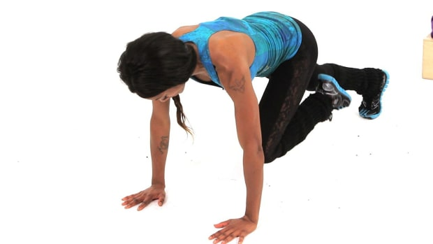 U. How to Do a Side Traveling Burpee Plyometric Exercise Promo Image